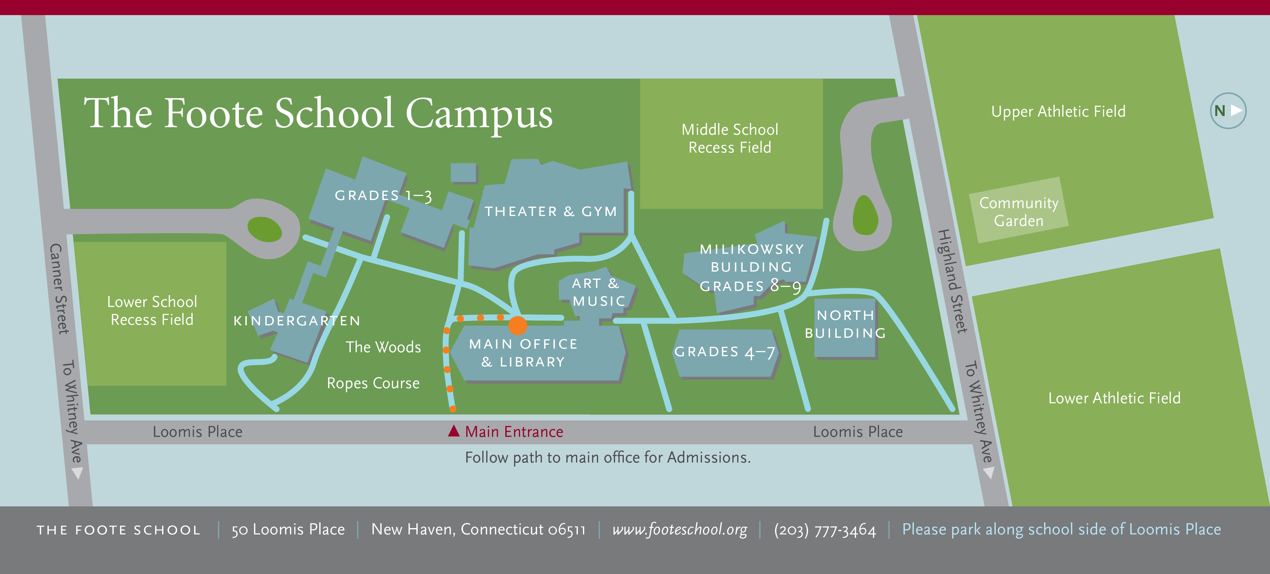The New School Campus Map.Map Directions Foote School