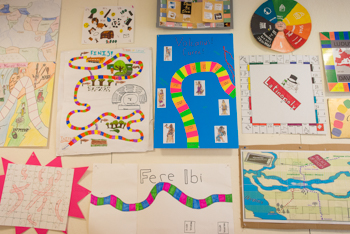 A group of projects shown together written in Latin language