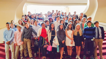 Seventh grade student choir at New York City's Metropolitan Opera