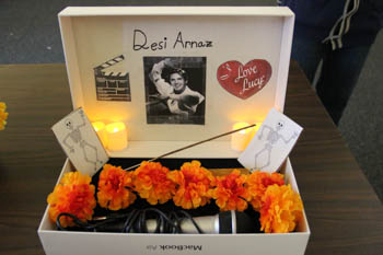 A honorary display for Cuban-American actor Desi Arnaz
